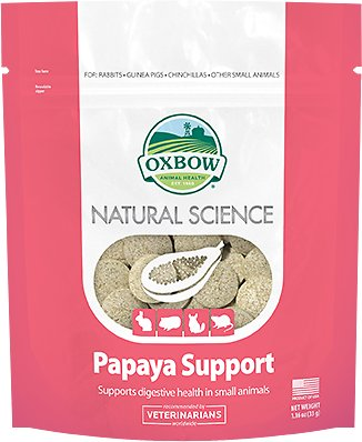 Oxbow Natural Science Papaya Support Digestive Health Small Animal Supplement, 1.16-oz bag (Weights: 1.16 ounces) Image