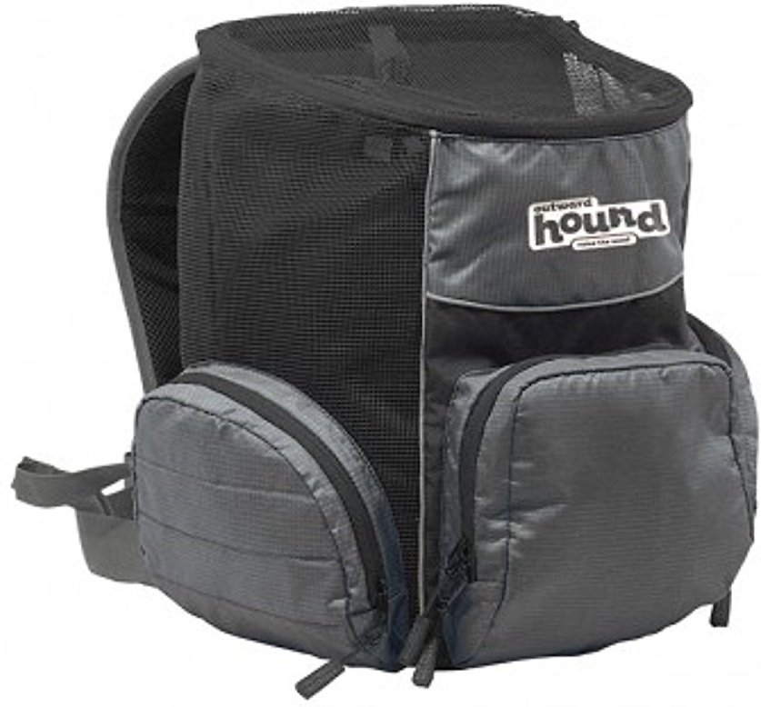 Outward Hound PoochPouch Dog Backpack, Gray Image