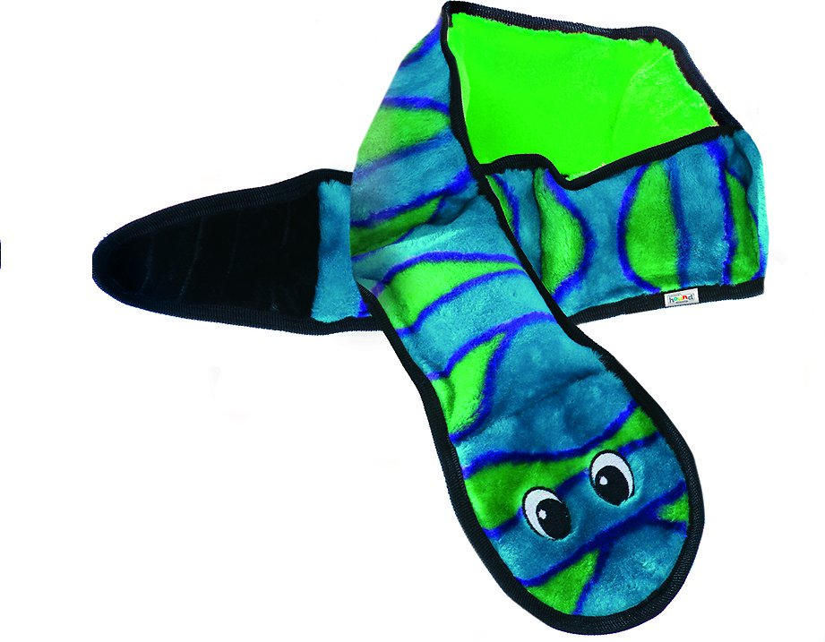 Outward Hound Invincibles Snakes Squeak Dog Toy, Color Varies Image