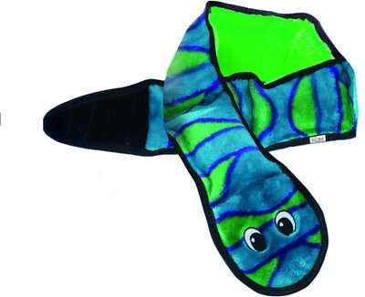 Outward Hound Invincibles Snakes Squeak Dog Toy, Color Varies, 6-Squeak