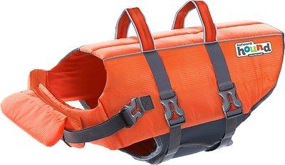 Outward Hound Granby RipStop Dog Life Jacket, Small Bright Orange