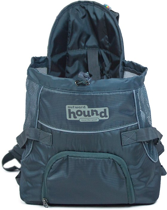 Outward Hound PoochPouch Front Dog Carrier, Gray Image