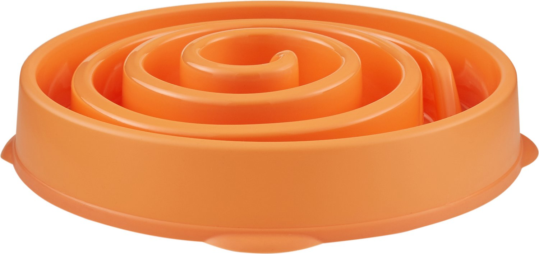 Outward Hound Fun Feeder Interactive Dog Bowl, Orange Image
