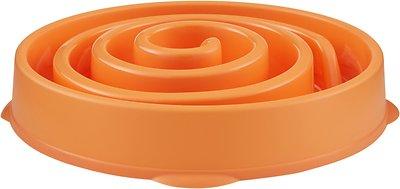 Outward Hound Fun Feeder Interactive Dog Bowl, Orange, Regular Orange