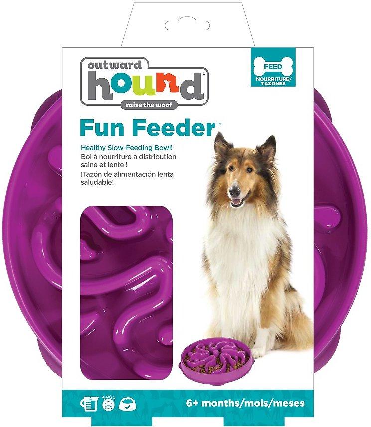 Outward Hound Fun Feeder Interactive Dog Bowl, Purple Image