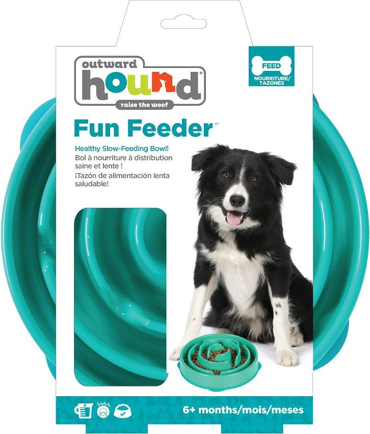 Outward Hound Fun Feeder Interactive Dog Bowl, Teal Image