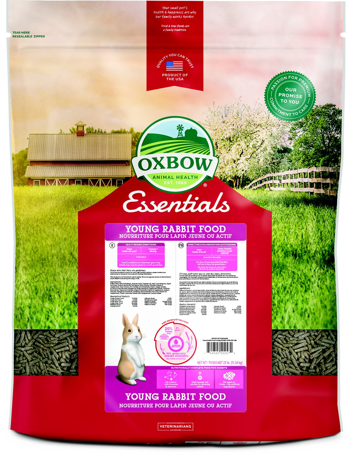 Oxbow Essentials Bunny Basics Young Rabbit Food Image