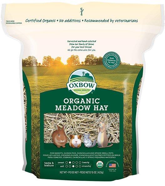Oxbow Organic Meadow Hay Small Animal Food, 40-oz bag