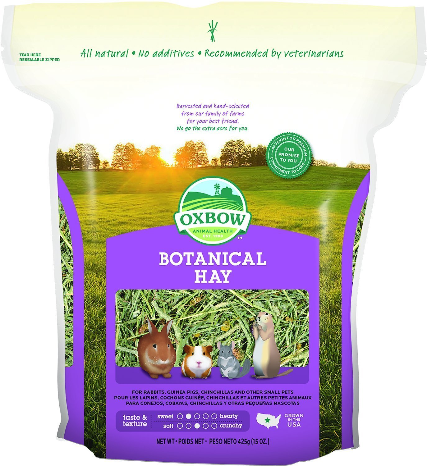 Oxbow Botanical Hay Small Animal Food, 15-oz bag