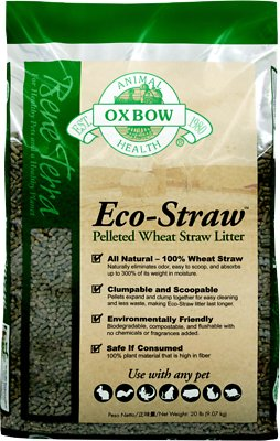 Oxbow Bene Terra Eco-Straw Pelleted Wheat Straw Small Animal Litter, 8-lb bag