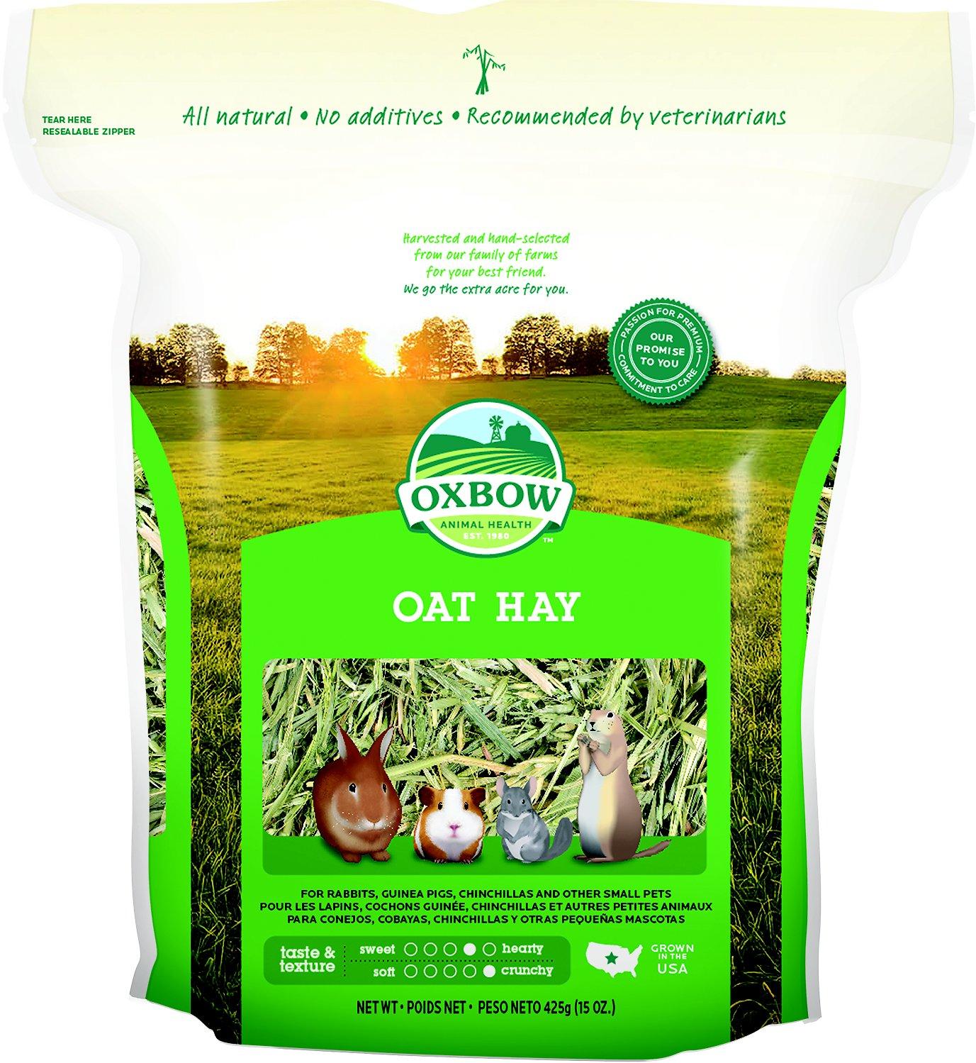 Oxbow Oat Hay Small Animal Food, 15-oz bag Image