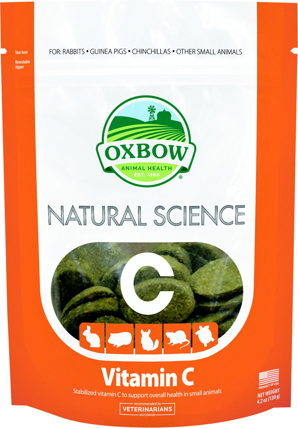 Oxbow Natural Science Vitamin C Small Animal Supplement, 60 count Image