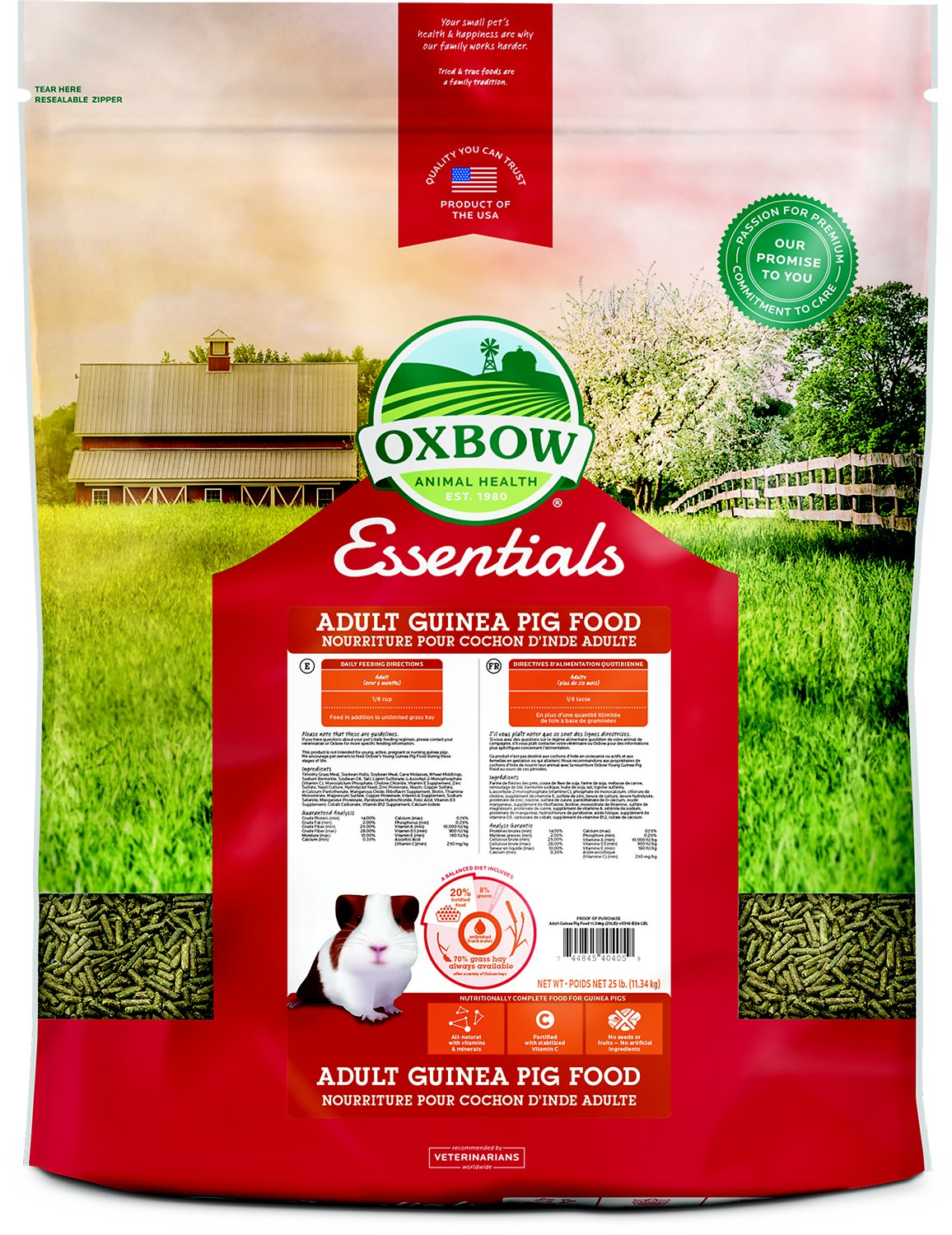Oxbow Essentials Cavy Cuisine Adult Guinea Pig Food Image