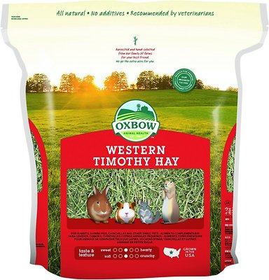Oxbow Western Timothy Hay Small Animal Food, 90-oz bag