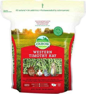 Oxbow Western Timothy Hay Small Animal Food, 15-oz bag