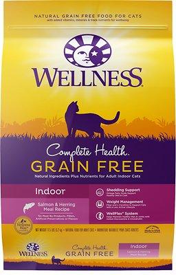 Wellness Complete Health Grain-Free Indoor Salmon & Herring Dry Cat Food, 11.5-lb