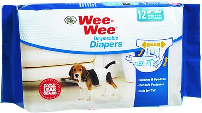 Wee-Wee Disposable Doggie Diapers, Medium