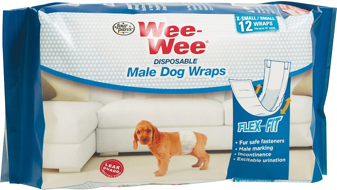 Wee-Wee Disposable Male Dog Wraps Image