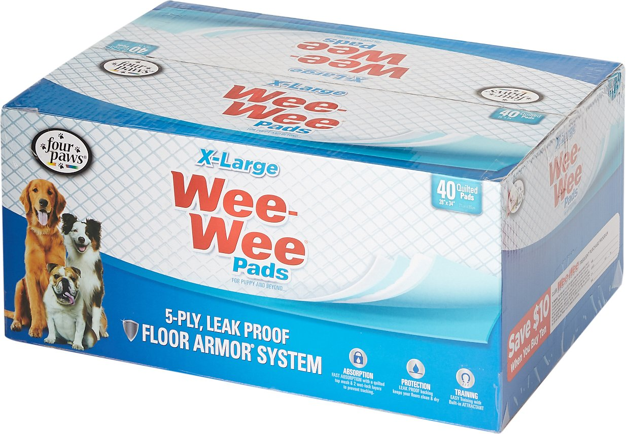 """Wee-Wee Extra Large Puppy Housebreaking Pads, 28"""" x 34"""" Image"""
