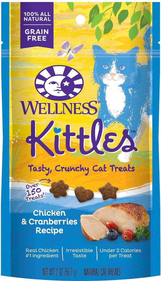 Wellness Kittles Grain-Free Chicken & Cranberries Recipe Crunchy Cat Treats, 2-oz bag Image