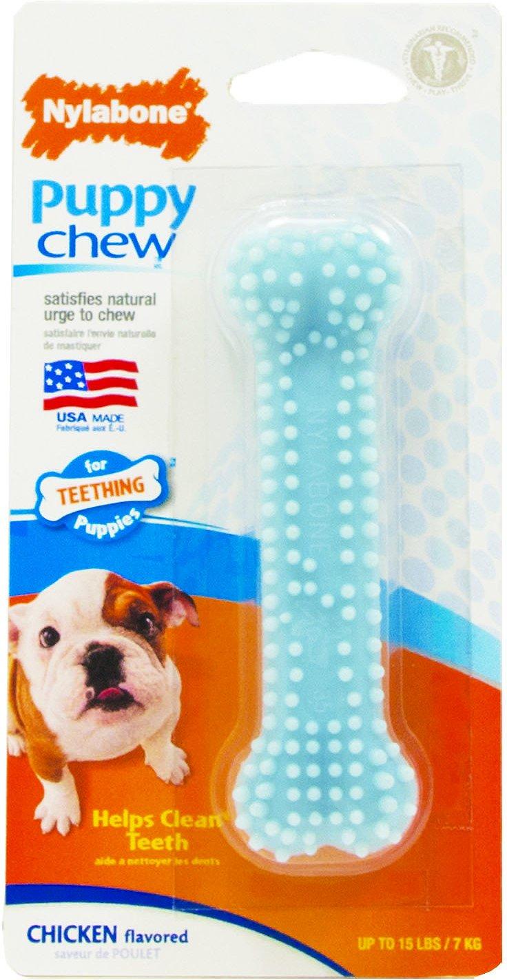 Nylabone Petite Dental Puppy Chew Toy, Blue