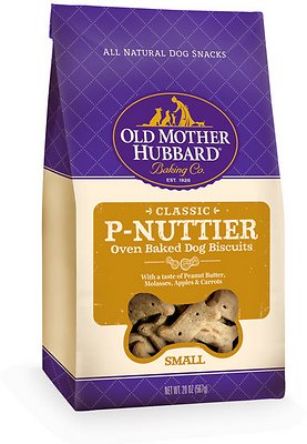 Old Mother Hubbard Classic P-Nuttier Biscuits Baked Dog Treats, Small, 20-oz bag