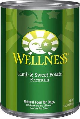 Wellness Complete Health Lamb & Sweet Potato Formula Canned Dog Food, 12.5-oz, case of 12
