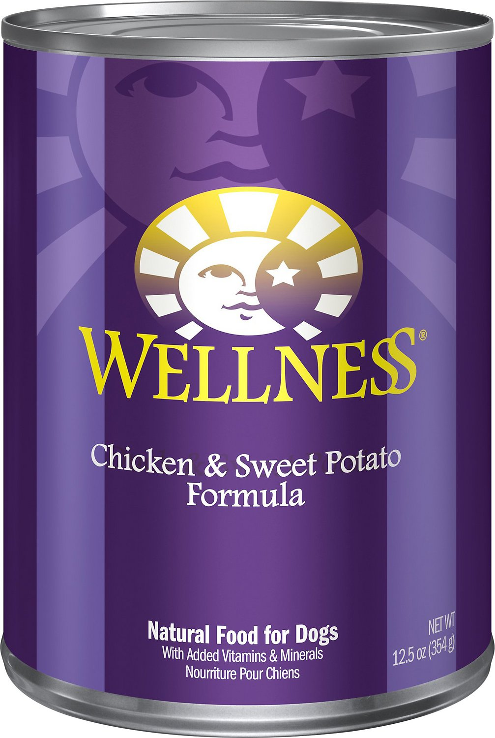 Wellness Complete Health Chicken & Sweet Potato Formula Canned Dog Food, 12.5-oz