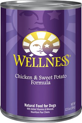 Wellness Complete Health Chicken & Sweet Potato Formula Canned Dog Food, 12.5-oz, case of 12