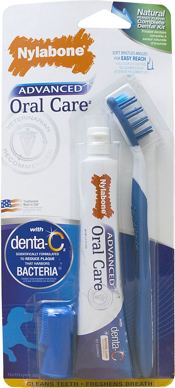 Nylabone Advanced Oral Care Natural Dog Complete Dental Kit