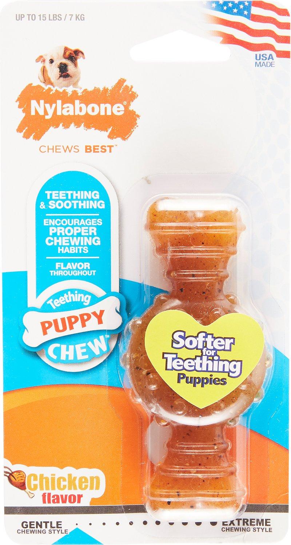 Nylabone Puppy Chew Ring Bone Chicken Flavor Dog Toy Image