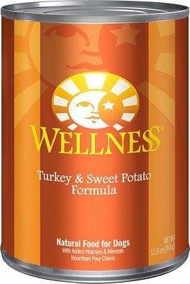 Wellness Complete Health Turkey & Sweet Potato Formula Canned Dog Food, 12.5-oz, case of 12