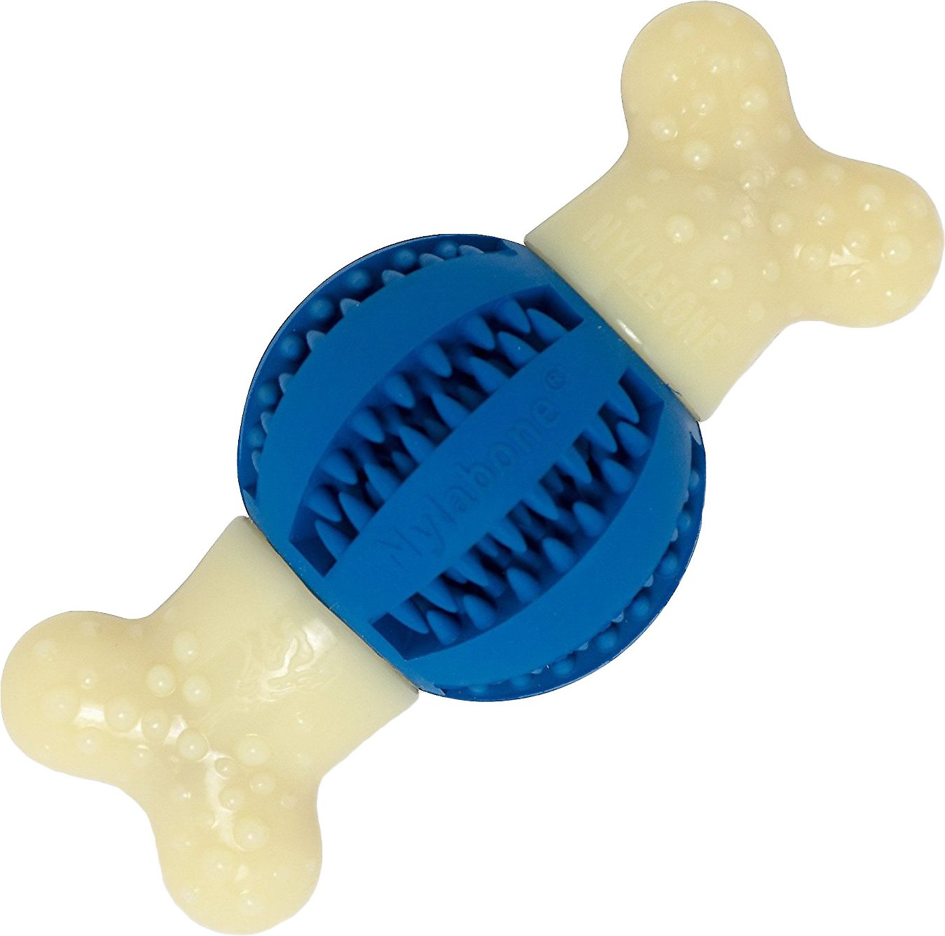 Nylabone DuraChew Double Action Round Ball Bacon Flavor Dog Toy
