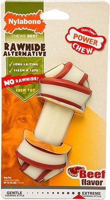 Nylabone DuraChew Rawhide Alternative Beef Flavor Knot Dog Bone Toy, Medium