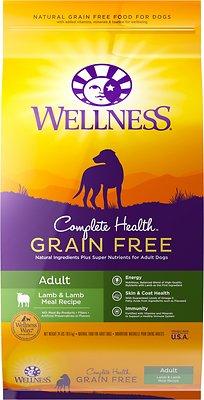 Wellness Complete Health Grain-Free Adult Lamb Dry Dog Food, 24-lb