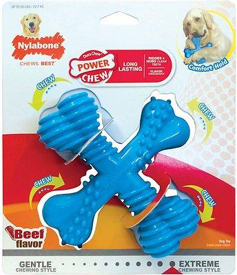 Nylabone DuraChew X Bone Beef Flavored Dog Toy, Giant