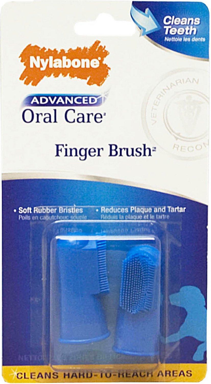 Nylabone Advanced Oral Care Dog Finger Brush, 2-pack