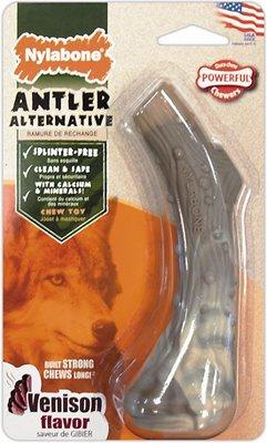 Nylabone DuraChew Venison Flavored Nylon Antler Dog Chew Toy, Wolf