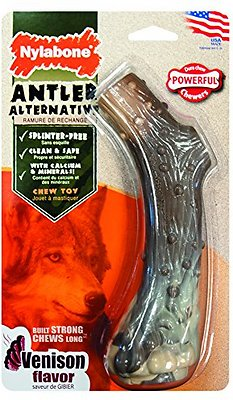 Nylabone DuraChew Venison Flavored Nylon Antler Dog Chew Toy, Giant