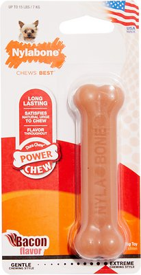 Nylabone DuraChew Bacon Flavor Bone Dog Toy, X-Small