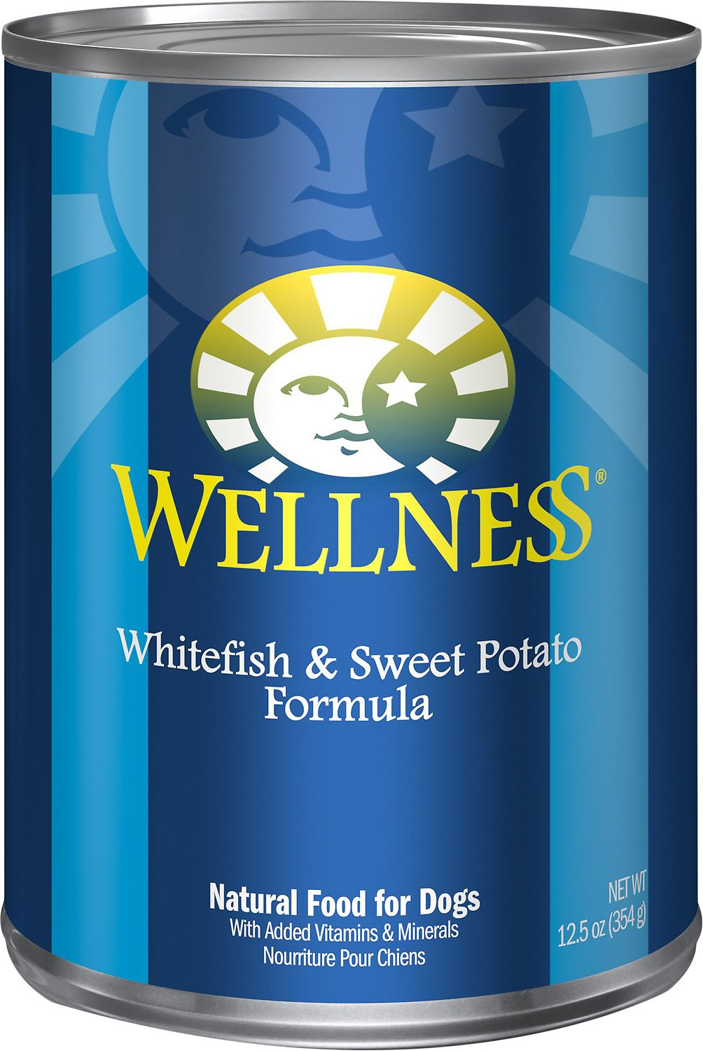 Wellness Complete Health Whitefish & Sweet Potato Formula Canned Dog Food, 12.5-oz