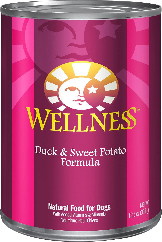 Wellness Complete Health Duck & Sweet Potato Formula Canned Dog Food, 12.5-oz