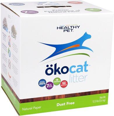 Okocat Natural Paper Dust Free Cat Litter, 12.3-lb box