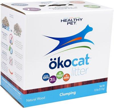 Okocat Natural Wood Clumping Cat Litter, 13.2-lb