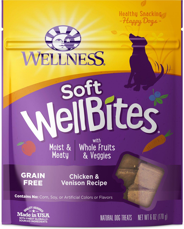 Wellness WellBites Chicken & Venison Soft & Chewy Dog Treats, 6-oz