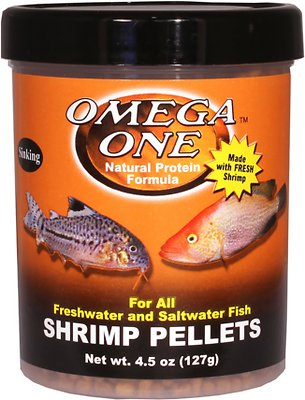 Omega One Sinking Shrimp Pellets Freshwater & Saltwater Fish Food Image