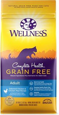 Wellness Complete Health Grain-Free Adult Chicken Dry Cat Food, 2.25-lb