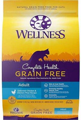 Wellness Complete Health Grain-Free Adult Chicken Dry Cat Food, 11.5-lb