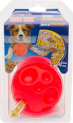 Omega Paw Tricky Treat Ball Dog Toy, Medium