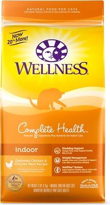 Wellness Complete Health Indoor Health Chicken & Chicken Dry Cat Food, 6-lb
